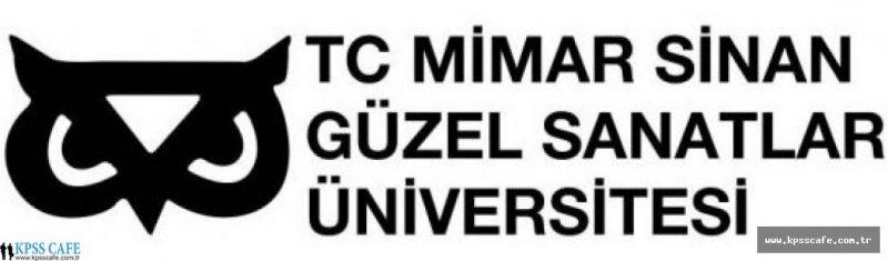 Mimar Sinan Üniversitesi Öğretim Üyesi Alım İlanı