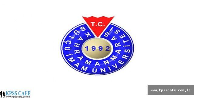 Sütçü İmam Üniversitesi 108 Sözleşmeli Personel Alım İlanı