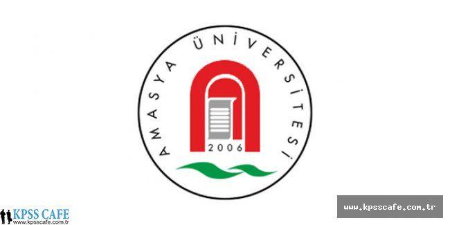 Amasya Üniversitesi Öğretim Elemanı Alım İlanı