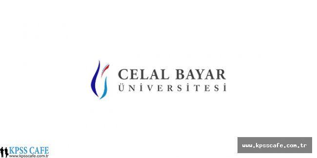Celal Bayar Üniversitesi Öğretim Üyesi Alım İlanı