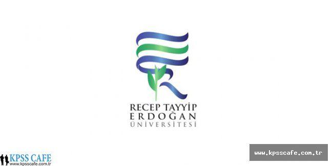Recep Tayyip Erdoğan Üniversitesi Sözleşmeli Personel Alım İlanı