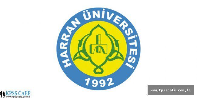 Harran Üniversitesi Sözleşmeli Personel Alacak