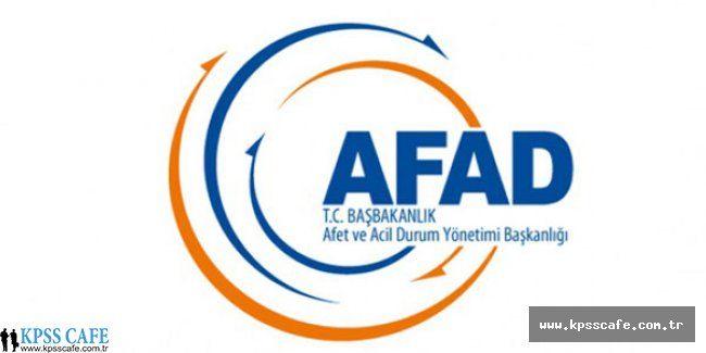 AFAD 25 Uzman Yardımcısı Alacak