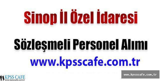 Sinop İl Özel İdaresi Sözleşmeli Personel Alımı