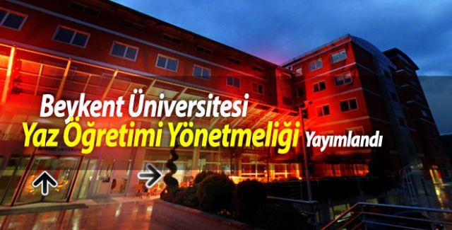 Beykent Üniversitesi Yaz Öğretimi Yönetmeliği Yayımlandı