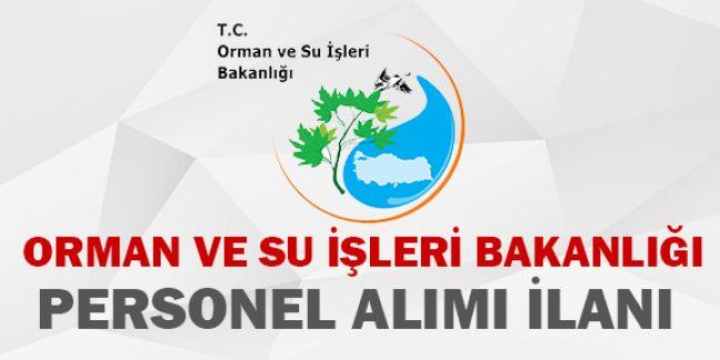 Orman ve Su İşleri Bakanlığı Sözleşmeli Personel Alımı