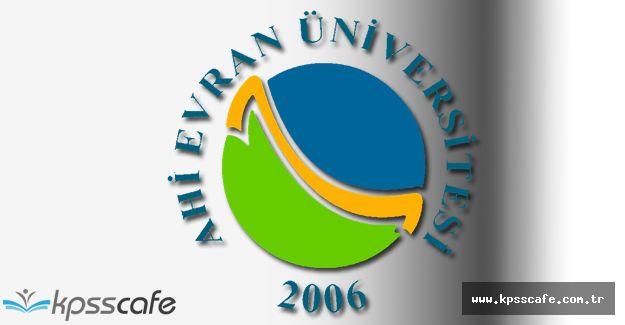 Ahi Evran Üniversitesi Öğretim Üyesi Alım İlanı 2016