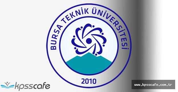 Bursa Teknik Üniversitesi Öğretim Üyesi Alımı Gerçekleştirecek