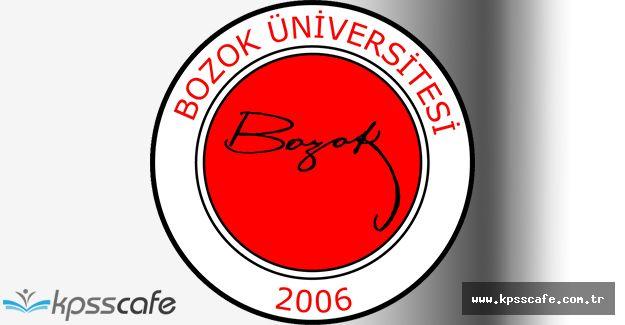 Bozok Üniversitesi Öğretim Üyesi Alımı 2016