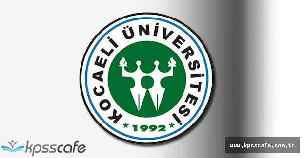 Kocaeli Üniversitesi Akademik Personel Alımı 2016