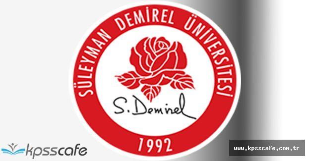 Süleyman Demirel Üniversitesi Sözleşmeli Hemşire Alımı 2016