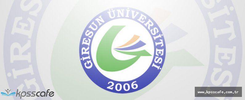 Giresun Üniversitesi Profesör ve Doçent Personel Alacak