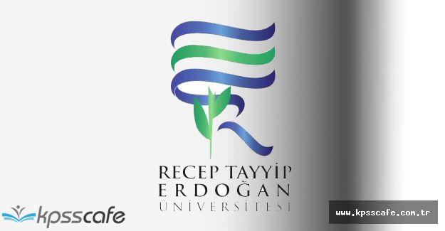 Recep Tayyip Erdoğan Üniversitesi Geçiçi İşçi Alımı Yapıyor