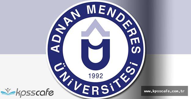 Adnan Menderes Üniversitesi Öğretim Üyesi Alımı Gerçekleştirecek