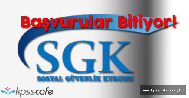 SGK 400 Denetmen Yardımcısı Sınavı Başvuruları Sona Eriyor