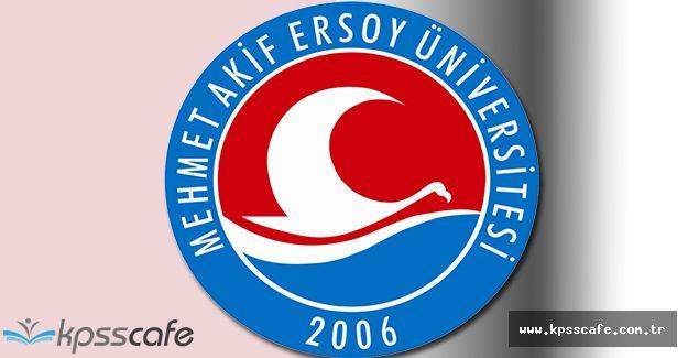 Mehmet Akif Ersoy Üniversitesi Çok Sayıda Akademik Personel Alıyor