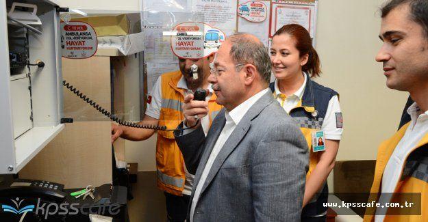 Sağlık Bakanı 112 Çağrı Merkezini Ziyaret Etti