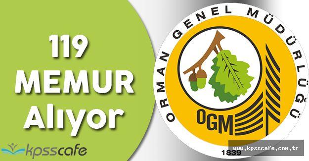 Orman Genel Müdürlüğü 119 Memur Alacak