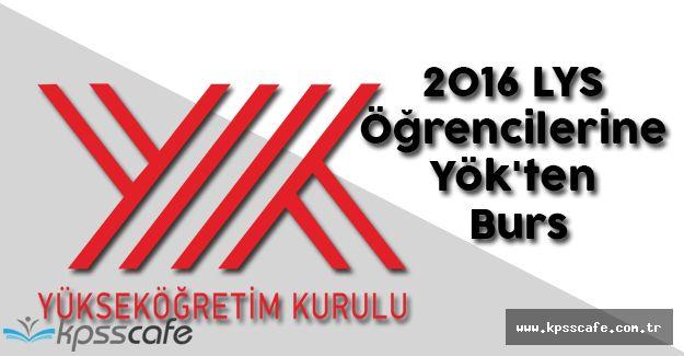 2016 LYS Öğrencilerine Yök'ten Burs