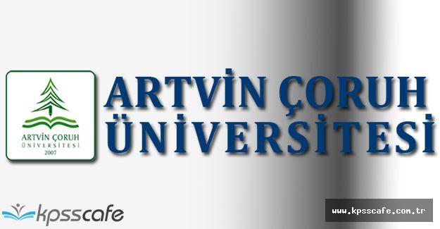 Artvin Çoruh Üniversitesi Yüksek Lisans ve Doktora Programı Yayımlandı