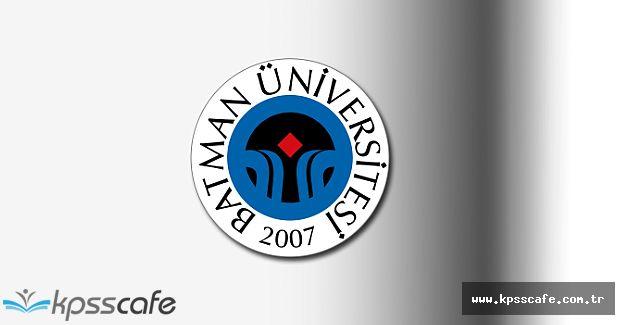 Batman Üniversitesi Akademik Personel İlanı