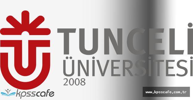 Tunceli Üniversitesi Akademik Personel Alımı