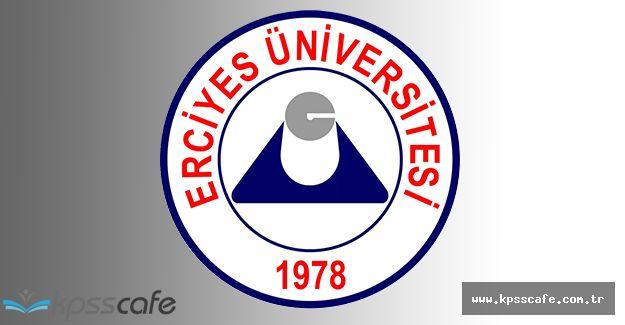 Erciyes Üniversitesi Sözleşmeli Personel Alacak