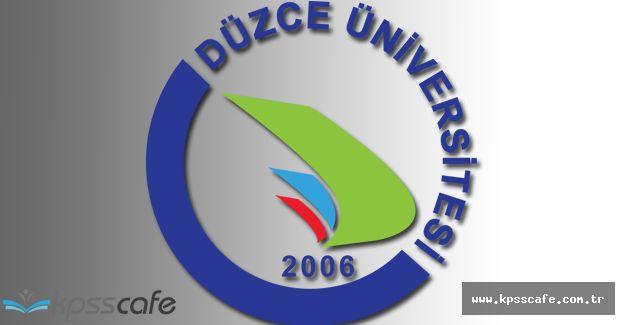 Düzce Üniversitesi Sözleşmeli Personel Alımı