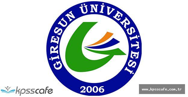 Giresun Üniversitesi Öğretim Elemanı Alıyor