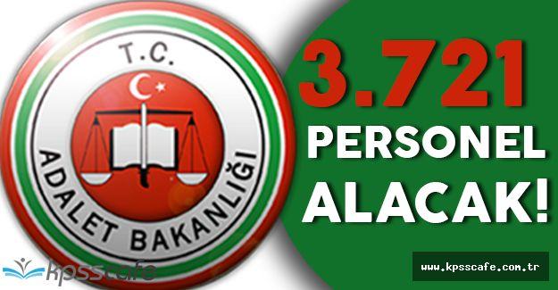 Adalet Bakanlığı 3.721 Sözleşmeli Personel Alımı Yapacak