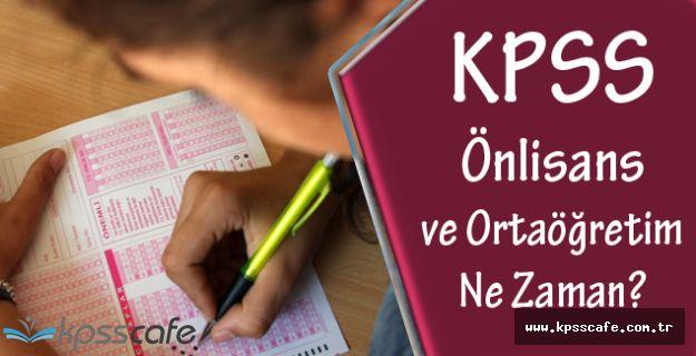 2016 KPSS Önlisans ve Ortaöğretim Sınavları Ne Zaman Yapılacak?