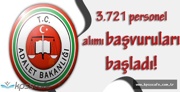 Adalet Bakanlığı 3.721 Personel Alımı Başvuruları Başladı!