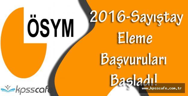 2016-Sayıştay Eleme Başvuruları Başladı!