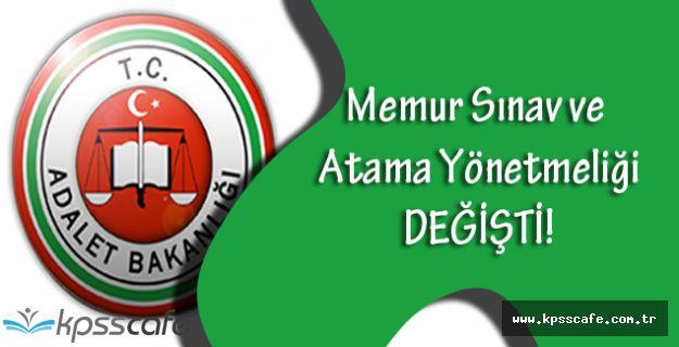 Adalet Bakanlığı Memur Sınav ve Atama Yönetmeliğinde Değişiklik Yapıldı!