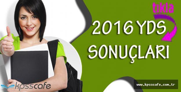 2016 YDS Sonbahar Dönemi Sınav Sonuçları Açıklandı!