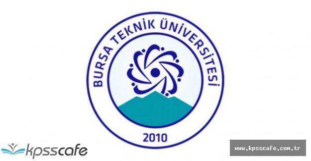 Bursa Teknik Üniversitesi Personel Alımı Yapıyor!