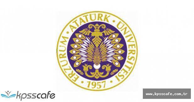 Atatürk Üniversitesi Personel Alımı