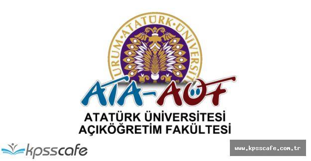 Atatürk Üniversitesi AÖF İkinci Üniversite Kayıtları Uzatıldı!