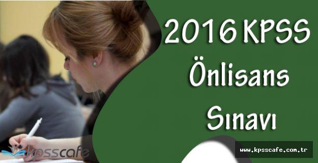 2016 KPSS Önlisans Sınavı Hakkındaki Temel Kurallar!