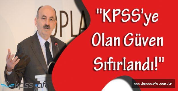 Müezzinoğlu Açıkladı! ''KPSS'ye Olan Güven Sıfırlandı!''