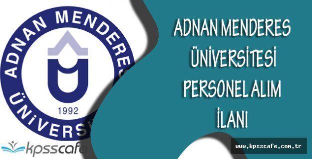 Adnan Menderes Üniversitesi Personel Alım İlanı