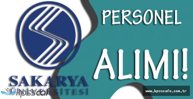 Sakarya Üniversitesi Personel Alımı Yapacak!