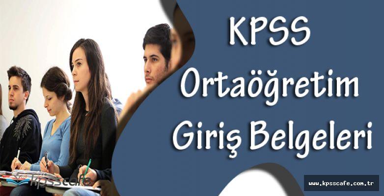 KPSS Ortaöğretim Sınavı Giriş Belgeleri Ne Zaman Yayımlanacak?