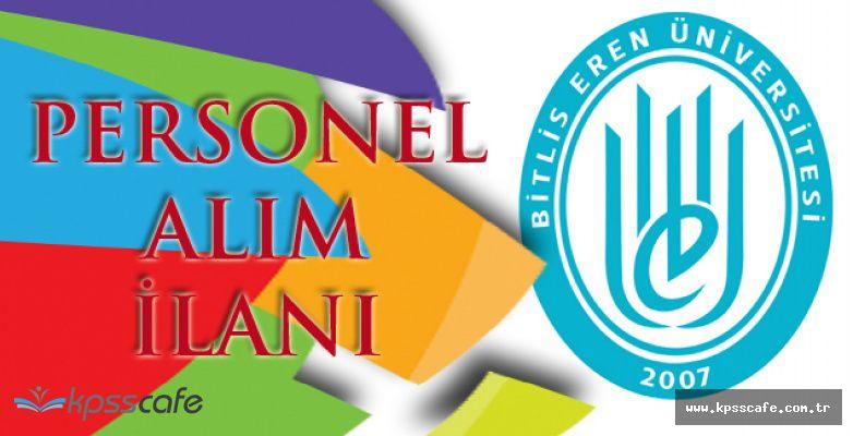 Bitlis Eren Üniversitesi Personel Alımı