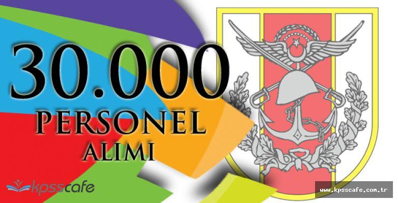 Türk Silahlı Kuvvetleri KPSS'den Düşük Puan ile 30.000 Personel Alımı Başvuruları Devam Ediyor!