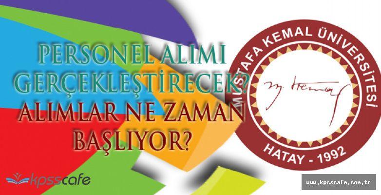 Mustafa Kemal Üniversitesi Personel Alım İlanı