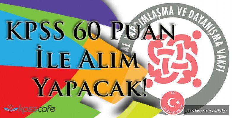 Taşköprü SYDV KPSS 60 Puan ile Alım Yapacak!