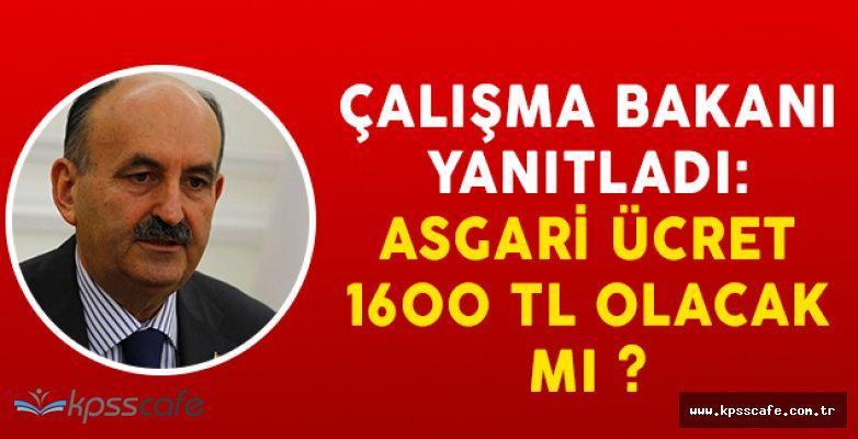 Çalışma Bakanı Yanıtladı: Asgari Ücret 1600 TL Olacak Mı?