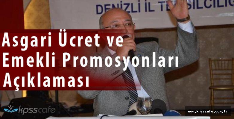 İsmail Koncuk'tan Asgari Ücret ve Emekli Promosyonları Açıklaması