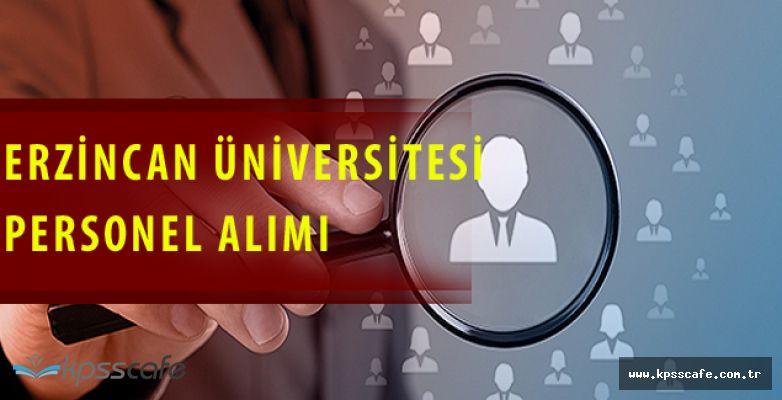 Erzincan Üniversitesi 42 Personel Alımı Yapacak